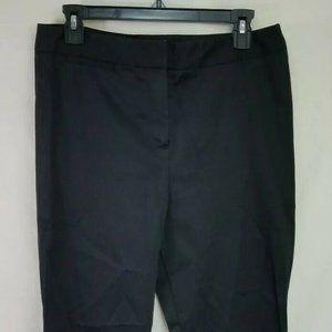 M&S Collection Sz 7 Black Stretch Slack Slim Fit